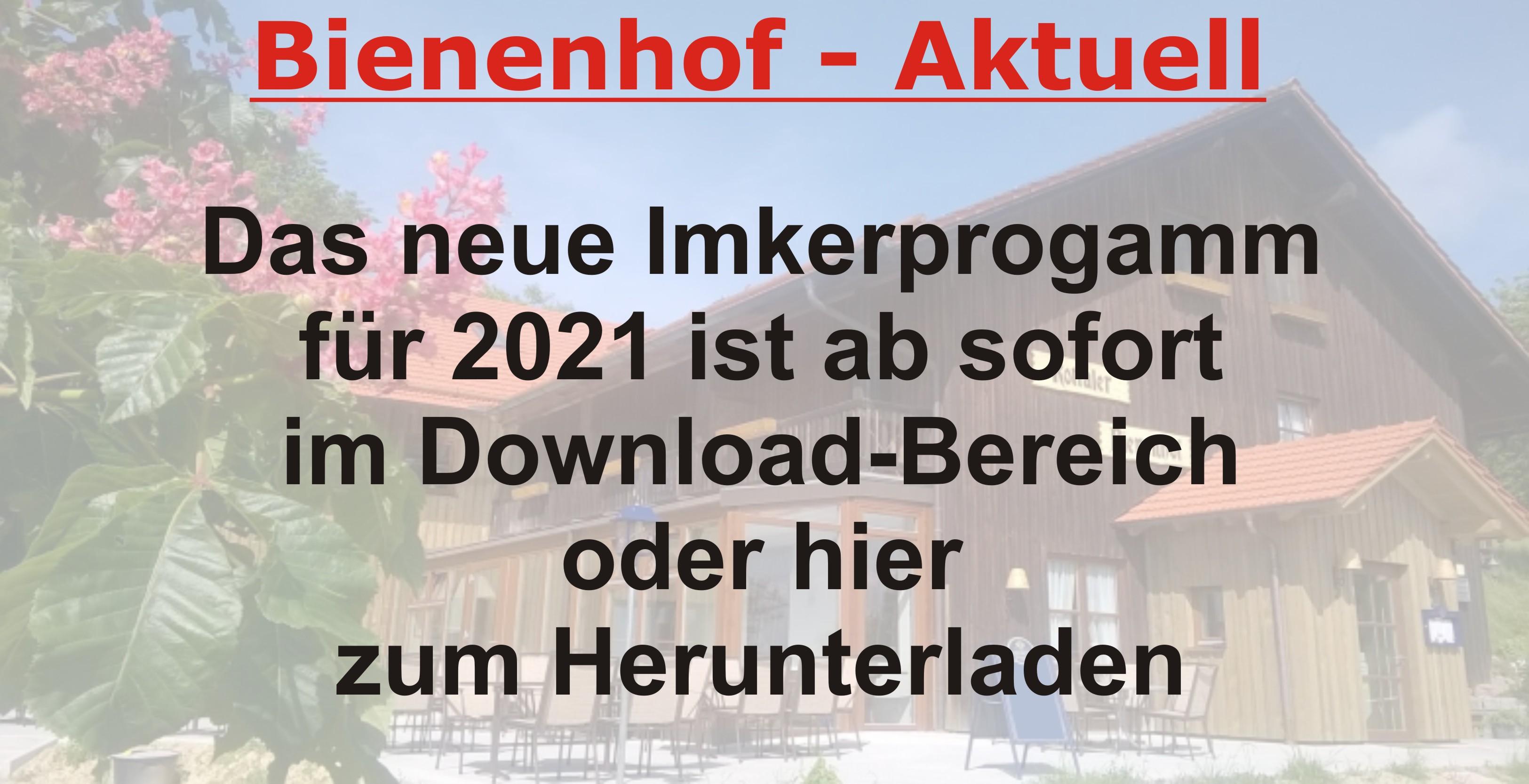 Imkerprogramm 2021