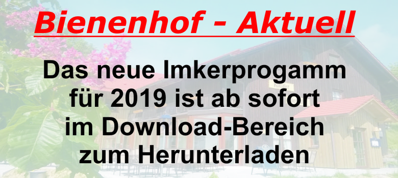Imkerprogramm 2019